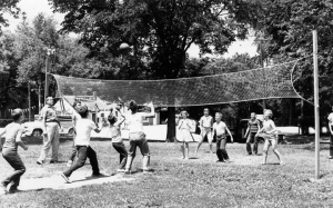 If worse came to worst, we'd head over to the park district playground at the Red Brick School to play croquet golf or volleyball or shoot arrows in the neighborhood of the targets. But it was generally considered far too structured for us free spirits.